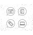 notebook usb flash drive and browser window vector image vector image