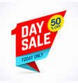 one day sale paper style banner design today only vector image vector image