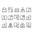 online education e-learning icons vector image