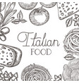 pattern of delicious italian food vector image