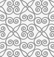 Perforated swirly flower grid vector image vector image