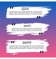 Quote Boxes and Brush Strokes vector image vector image