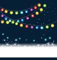rainbow christmas tree lights vector image vector image