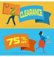 Sale banners with shopping people vector image vector image