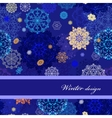 Seamless pattern with golden blue white vector image