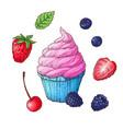 set ice cream cone vector image