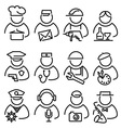 set line peoples icons vector image