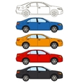 Set of cars flat style vector image