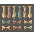 set ties and bow ties vector image vector image