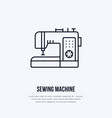 sewing machine flat line icon logo vector image vector image