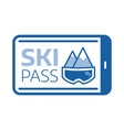 ski pass entrance card icon vector image