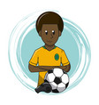 soccer cartoon elements vector image vector image