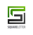square initial letter s logo concept design vector image