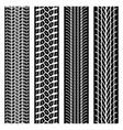 tire tracks set vector image vector image