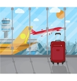 Travel suitcases inside of airport vector image