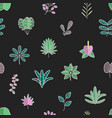 tropical leaves and flora hawaii seamless vector image vector image