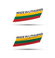 two modern colored lithuanian flags vector image vector image