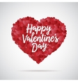 valentine day heart decorative background vector image vector image