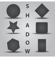 various simple object with shadow eps10 vector image vector image