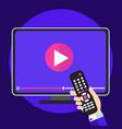 video tutorials on tv icon concept study vector image
