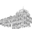 vintage building in sketch style vector image