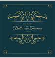 vintage dark luxury golden invitation card vector image