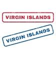 Virgin Islands Rubber Stamps vector image vector image