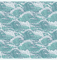 waves sea ocean seamless pattern big and vector image vector image