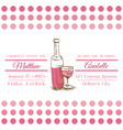 Wedding Vintage Invitation Card - Wine Theme vector image vector image