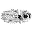 what do directors look for in a script text word vector image vector image