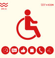 wheelchair handicap icon vector image vector image
