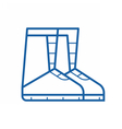 Winter Snowboard Boots Icon vector image