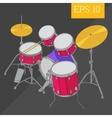 drum kit isometric vector image