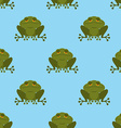 Frog in water seamless pattern Blue Lake and Green vector image