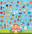 Food icon set flat design vector image