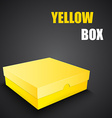 Package yellow box design vector image