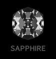 abstract sapphire on black background vector image