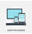 Adaptiove Web Design vector image vector image