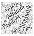 Alternatives to Clickbank Word Cloud Concept vector image vector image