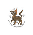 animal in thai traditional tattoo vector image vector image