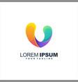 awesome letter v logo design vector image vector image