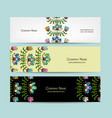 banners design folk style floral background vector image vector image