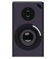 Black speaker vector image vector image