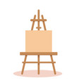 canvas with easel vector image vector image