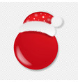 christmas banner with santa claus cap transparent vector image vector image