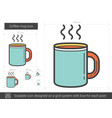 coffee mug line icon vector image vector image