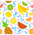 colorful seamless pattern of appetizing tropical vector image vector image