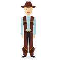 cowboy man western cow boy vector image