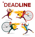 deadline concept set office people vector image vector image
