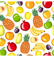 different fruit pattern vector image vector image